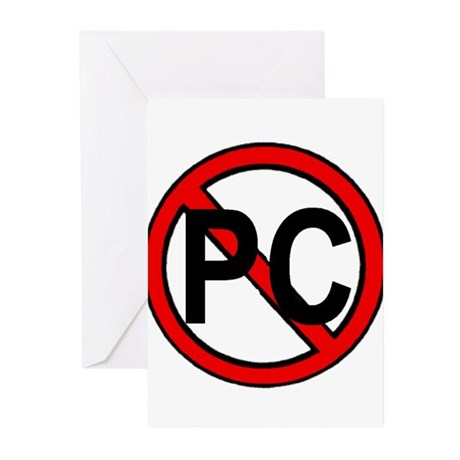 NO MORE PC Greeting Cards (Pk of 10)