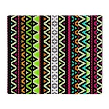 Neon Mix, Tribal Throw Blanket