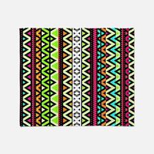 Neon Mix, Tribal Throw Blanket
