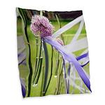 Lavender flower ball Burlap Throw Pillow