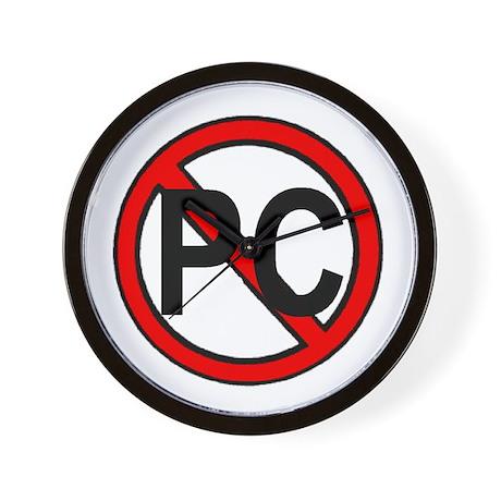 NO MORE PC Wall Clock