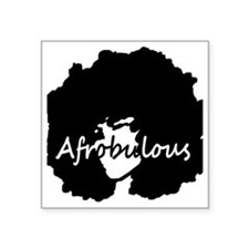 "Afrobulous Square Sticker 3"" x 3"""