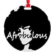 Afrobulous Round Ornament