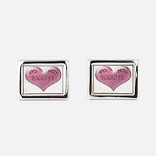 Do Not Resuscitate Pink Heart Cufflinks