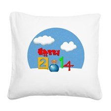 Happy New Year 2014 Square Canvas Pillow