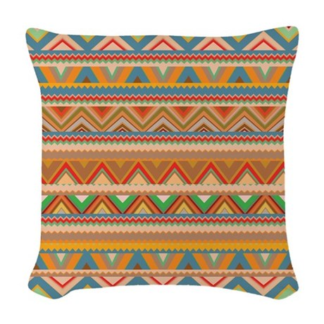 Mix #75 - Tribal Woven Throw Pillow by Ornaartzi