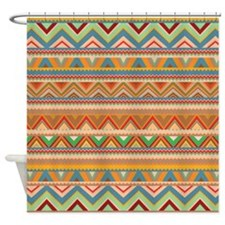 Mix #75, Tribal Shower Curtain