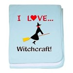 I Love Witchcraft baby blanket
