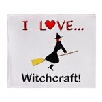 I Love Witchcraft Throw Blanket
