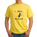I Love Witchcraft Yellow T-Shirt