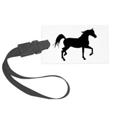 Arabian Horse Silhouette Luggage Tag
