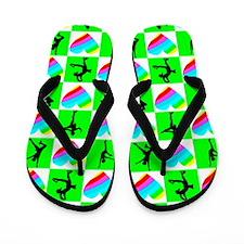 LOVE SKATING Flip Flops