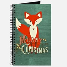 Teal Christmas Fox Journal