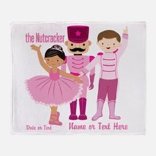 Personalize Pink Nutcracker Throw Blanket