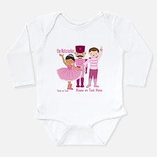 Personalize Pink Nutcracker Long Sleeve Infant Bod