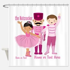 Personalize Pink Nutcracker Shower Curtain