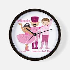 Personalize Pink Nutcracker Wall Clock