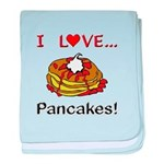 I Love Pancakes baby blanket