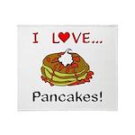 I Love Pancakes Throw Blanket