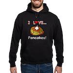 I Love Pancakes Hoodie (dark)