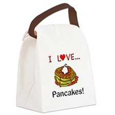 I Love Pancakes Canvas Lunch Bag