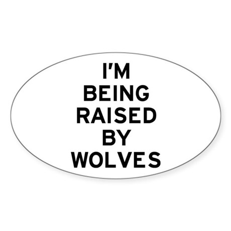 I'm Wolves Sticker (Oval)