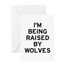 I'm Wolves Greeting Card