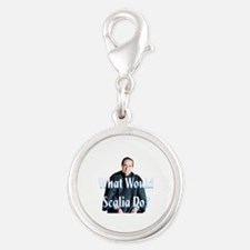 What Would Scalia Do Silver Round Charm