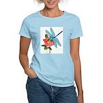 Dragonfly & Wild Rose Women's Light T-Shirt