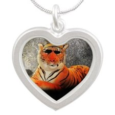 Kool Kat Silver Heart Necklace