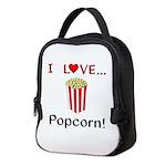 I Love Popcorn Neoprene Lunch Bag