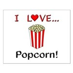 I Love Popcorn Small Poster