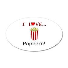 I Love Popcorn Wall Decal