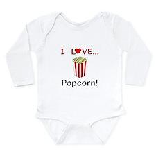 I Love Popcorn Onesie Romper Suit