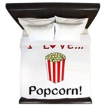 I Love Popcorn King Duvet