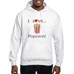 I Love Popcorn Hooded Sweatshirt