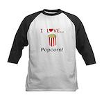 I Love Popcorn Kids Baseball Jersey