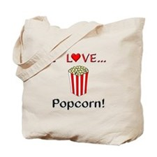 I Love Popcorn Tote Bag