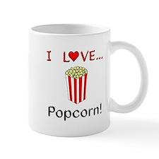 I Love Popcorn Small Mug