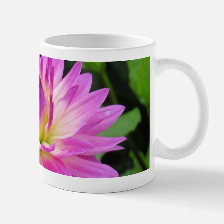 Purple Yellow Dahlia Mugs