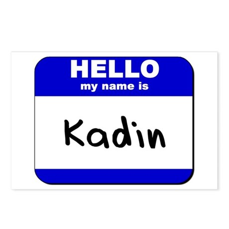 hello my name is kadin Postcards (Package of 8)