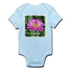 Purple Yellow Dahlia Body Suit