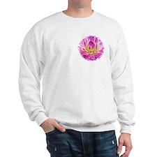 Purple Yellow Dahlia Sweatshirt
