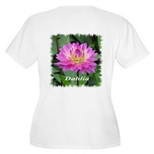 Purple Yellow Dahlia Plus Size T-Shirt