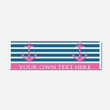 Personalized Text Anchor and Stripes Car Magnet 10