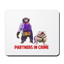 Monkey and Dog: Partners In Crime Mousepad
