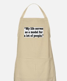 MY Life Serves as a Model BBQ Apron