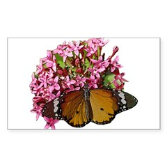 Tiger Butterfly Rectangle Decal