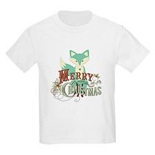 Teal Christmas Fox T-Shirt