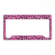 Leopard Print Spot Pattern Pink and Black License